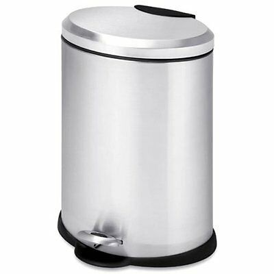 Honey-Can-Do TRS-01447 Oval Stainless Steel Step Can, 12-Liter