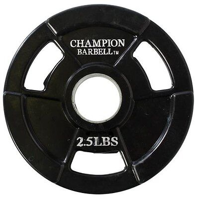 Champion Barbell Olympic Rubber Coated Grip Plate, 2.5-Pound