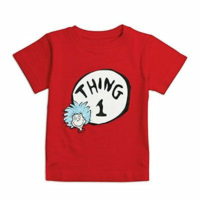Bumkins Unisex-baby Infant Dr. Seuss Thing 1 Short Sleeve Tee  Red  18 Mont