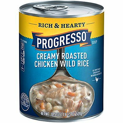 Progresso Rich & Hearty Soup, Creamy Chicken Wild Rice, 18.5-Ounce Cans (Pa
