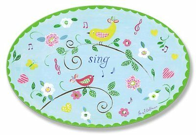 The Kids Room by Stupell Sing Birds on Branches Oval Wall Pl