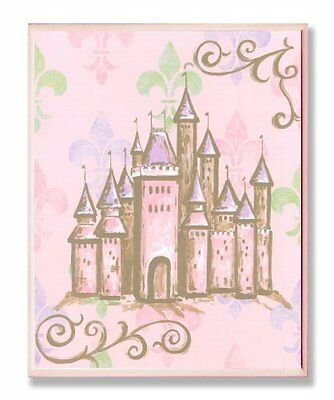 The Kids Room by Stupell Castle with Fleur de Lis on Pink Ba