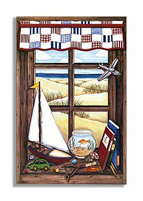 The Kids Room by Stupell  Boy's Slingshot and Sailboat Faux
