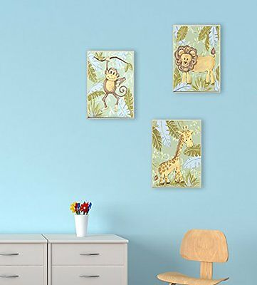 The Kids Room by Stupell Giraffe in the Jungle Rectangle Wal