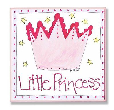 The Kids Room by Stupell Little Princess with Pink Crown Squ