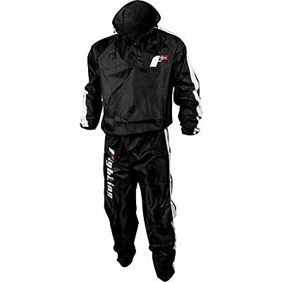 Fighting Sports Nylon Sauna Suit, Black, X-Large