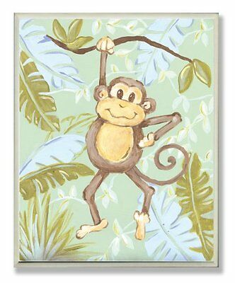 The Kids Room by Stupell Monkey in the Jungle Rectangle Wall