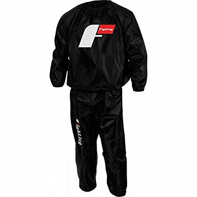 Fighting Sports Nylon Hooded Sauna Suit, Black, Medium