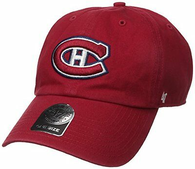 NHL Montreal Canadiens Clean Up Cap, One Size, Red
