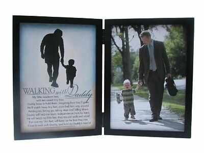 The Grandparent Gift Co. Silhouettes Frame, Walking with Dad