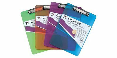 Charles Leonard Inc. Plastic Clipboard with Low Profile Clip, Letter Size,