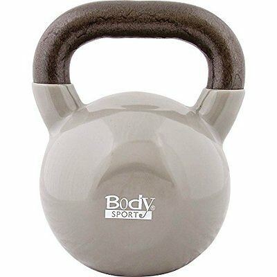 Body Sport Kettlebell with Steel Handle and Cast Iron Bell,