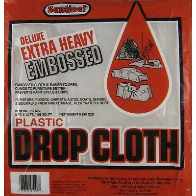 9' X 12' Sentinel+T-+ Deluxe Service Weight Embossed Drop Cloth