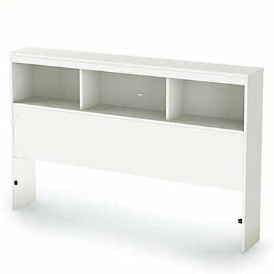 South Shore Spark Collection Full Bookcase Headboard, Pure White