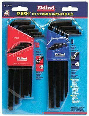 Eklind Tool Company 10222 22 Piece Combination Long Hex-L Ke