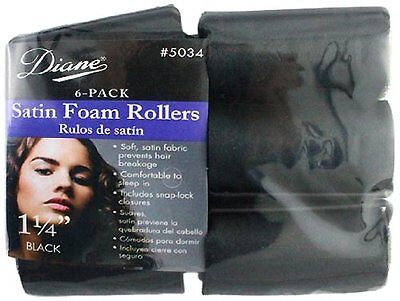 Diane Satin Foam Rollers, 1 1/4 Inch, 6 Count