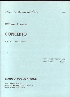 Concerto for tuba and strings (piano reduction and solo part)