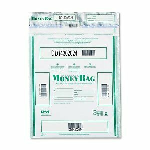 PM Company 58051 - Triple Protection Tamper-Evident Deposit Bags, 20 x
