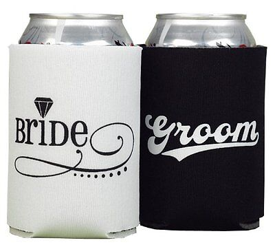 Hortense B. Hewitt Wedding Accessories Bride and Groom Can Coolers