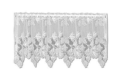 Heritage Lace Woodland 60-Inch Wide by 24-Inch Drop Tier, Wh
