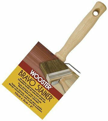 Wooster Brush F5119-4 Bravo Stainer Bristle/Polyester Stain Brush, 4 Inch