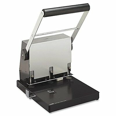Carl Mfg Heavy-Duty 3-Hole Punch, 9/32, 300-Sheet Capacity, Platinum
