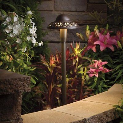 Kichler Lighting 15857AZT 12-volt  Pierced Dome LED Landscape Path Light, T