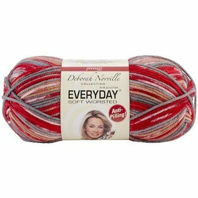 Everyday Anti-Pilling Soft Worsted Prints Yarn-Red Rocks