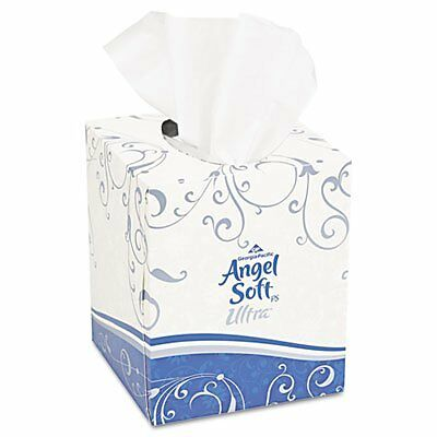 Angel Soft ps Ultra 46560 White Premium Facial Tissue with Cube Box, 8.5 Le