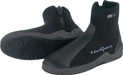 NeoSport 5-mm Hard Sole Boot (Black, 5) - Water Shoes, Surfi
