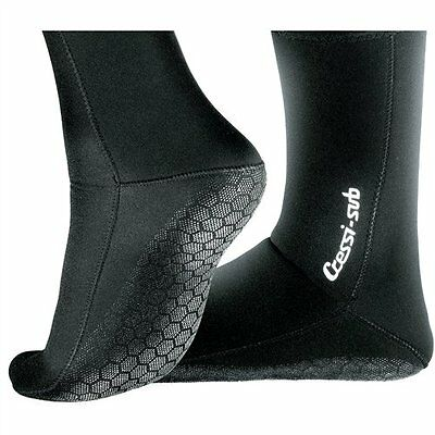 Anti-Slip Socks 2.5mm - Black [M]
