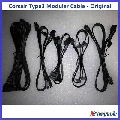 Modular Cable Corsair Type 3 (Gen.2) for RM TXM CSM AXi HXi Series Power Supply