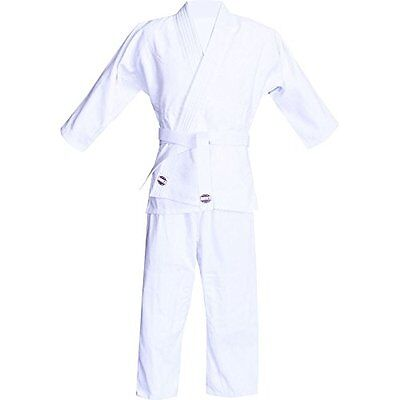 Judo Uniform in Natural Bleached White Cotton (2 (10 to 12))