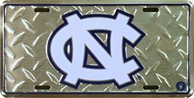 NCAA North Carolina Tar Heels Diamond Plate Car Tag