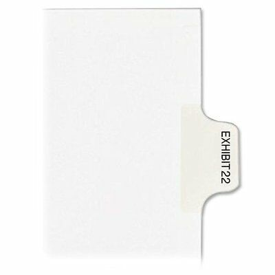 Kleer-Fax - Numerical Index Dividers, Exhibit 22, Letter, 10/BX White, Sold