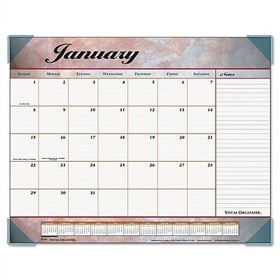 AT-A-GLANCE Visual Organizer Recycled Marbled Desk Pad, 22 x 17 Inches, Mar