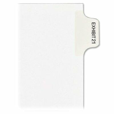 KLF 80121, Kleer-Fax Numerical Index Dividers