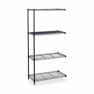 Safco Products Company SAF5295BL Add-On Unit- f-Wire Shelving- 4 Shelves-2