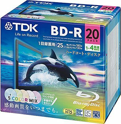 TDK Blu-ray BD-R Disk   25GB 4x Speed 20 Pack (Japanese Import)