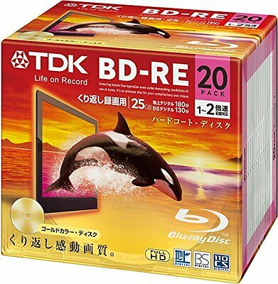 TDK Blu-ray BD-RE Re-writable Gold Color Disk 25GB 2x Speed