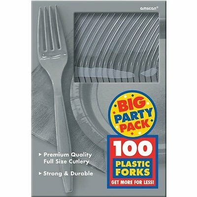Silver Big Party Pack - Forks Party Accessory