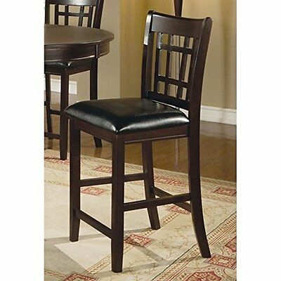 """Coaster Leather-Look 2-Piece Pub Chair, 24"""" height, Cappucci"""