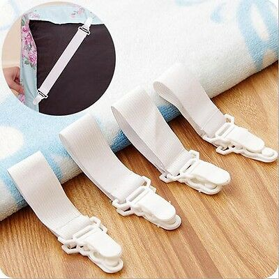 Bed Sheet Fasteners Blankets Elastic Holder Mattress Cover Grippers Clip