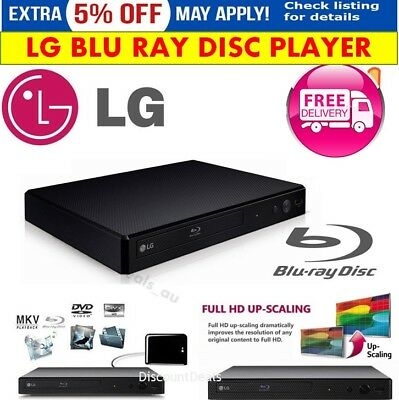 LG Blu Ray Player DVD Player HDMI Blue Ray DiscAudio CD Player Video HD Movies