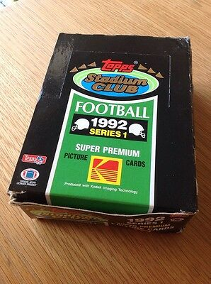 UNOPENED Box 1992 Stadium Club NFL American Football TRADING CARDS