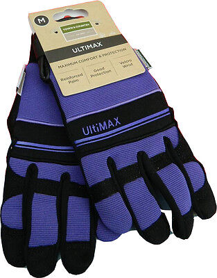 Town & Country Ultimax Heavy Duty Synthetic Leather Gloves - Purple