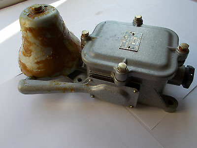 Vintage Russian military alarm signal bell buzzer industrial steampunk