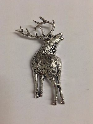Stag Z70 Made from Solid Fine English Pewter Pin Lapel Badge