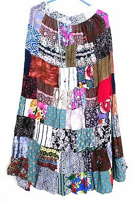 Lot of 50 pcs Indian Vintage Style Patchwork Hippie Boho Fall Fashion Skirts