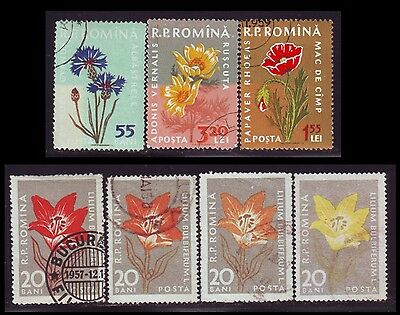 1885-1957 Romania, Great lot of 58 stamps with errors, freaks, oddities